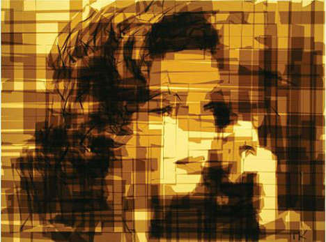Packing Tape Portraits