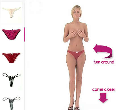 Virtual Lingerie Shopping