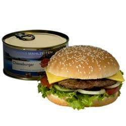 Canned Cheeseburger - Junk Food With 12 Month Shelf Life