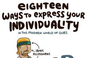 The '18 Ways to Express Your Individuality' Infographic is Comical