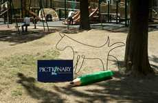 Doodled Dog Campaigns - The Pictionary 2011 Ads Show the Game in Real Life