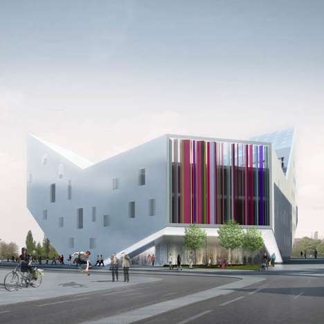Distorted Geometric Buildings - Lil/Euralille Youth Centre by JDS Architects is an Urban Catalyst