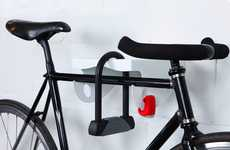 Elegant Ledge Cycle Stands - The MAMA Bike Rack Shelves Your Bicycle for Safe Storage