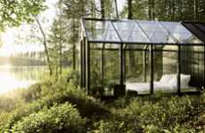 Habitable Glass Greenhouses - Garden Shed by Ville Hara Furnishes Around-the-Clock Nature Lovers