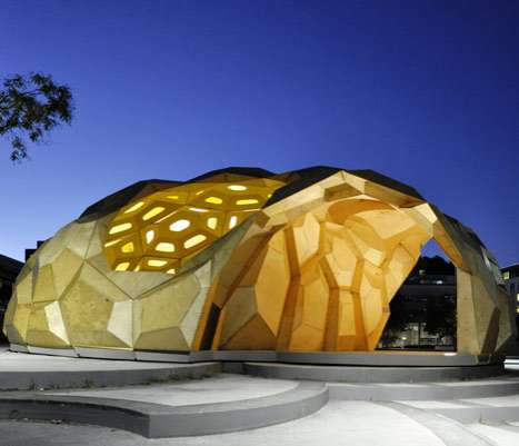 Domed Sea Creature Structures - This University of Stuttgart Pavilion was Inspired by Biology