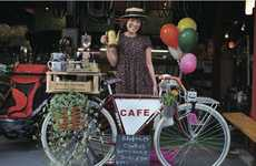 Cycling Coffee Shops - Charrie's Cafe Gives On-the-Go Beverages New Meaning