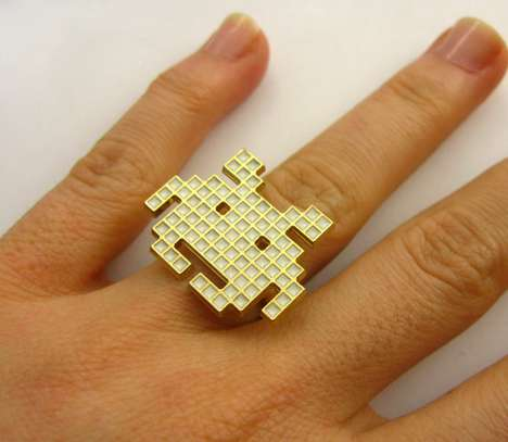 Space Invaders pixel ring