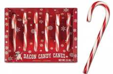 Porky Peppermint Sticks - The Bacon Candy Canes are Minty and Meaty