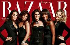 Supermodel Reunion Covers - The Harper's Bazaar UK December 2011 Issue Features Top Models