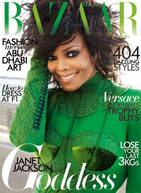 Janet Jackson Harper&#8217;s Bazaar Arabia November 2011
