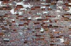 Exposed Brick Adornments - The Tom Haga 'Attic' Wallpaper Collection Conceals Boring Walls