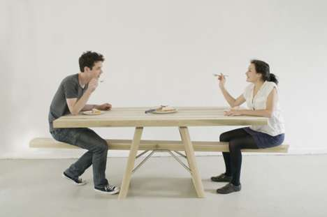 Playground-Inspired Furniture - Marleen Jansen Created a Seesaw Table to Make Dinner Time More Fun
