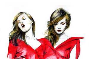 40 Hot High-Fashion Illustrations - From Vivacious Femme Vignettes to Provocative Watercolors