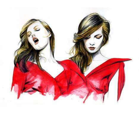 hot High-Fashion Illustrations