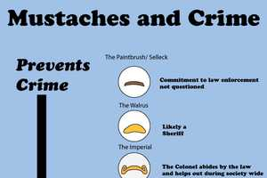 The Bite 'Mustaches and Crime' Chart is a Ranks Rogue Facial Hair