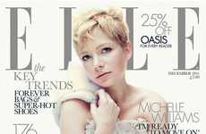 Snowy Waif Editorials - The Elle UK December 2011 Shoot Gets Michelle Williams Glamored Up