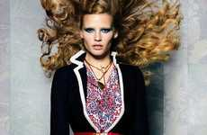 Sultry Sailor Shoots - The Lara Stone Vogue November 2011 Editorial Features Female Boating Fashion