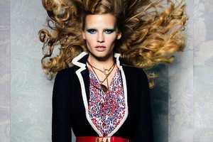 The Lara Stone Vogue November 2011 Editorial Features Female Boating Fashion
