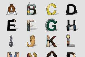 The Fabian Gonzalez 'Star Wars Alphabet' is a Font from a Galaxy Far Away