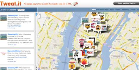 Food Truck Trackers - The 'Tweat It' App Updates Moving Restos Via Twitter Updates