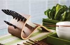 Undulating Blade Racks - The Del Ben Essentium Knife Block is Sharp Enough to Warp Wood