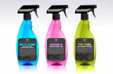 Vibrant Car Care Branding - Croftgate Packaging Flaunts a Bright Face Compared to Competing Products