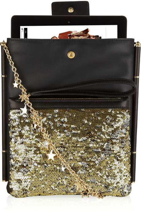 Posh Tablet Pouches - The Dolce & Gabbana Sequined Leather iPad Case is a Sumptuous Safe Keeper