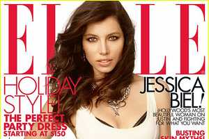 The Jessica Biel Elle Magazine December 2011 Editorial is Hot