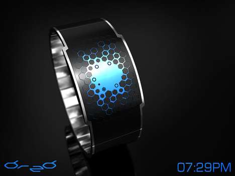 digital watches time pixels
