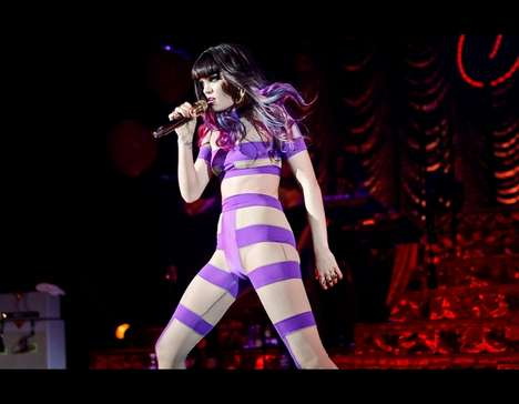 Outer-Space Attire - British Pop Icon Jessie J Borrows Her Outfit from the 5th Element Set