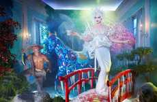Surreal Cultural Campaigns - David Lachapelle's Special T Ads Enter Three Magical Worlds