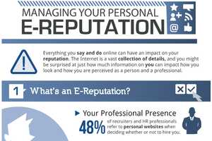 The 'Managing Your Personal E-Reputation' Chart is Enlightening