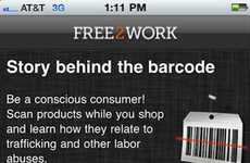 Child Labor Avoidance Apps - The Free2Work App Scans Barcodes to Unveil Standards of the Company