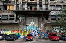 Alien Graffiti Takeovers - Attack of Space Invaders in Sao Paolo