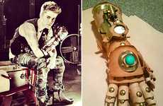 Popstar Apocalyptic Armor - The Ian Finch-Field Steampunk Robot Arm is Justin Bieber Approved