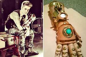 The Ian Finch-Field Steampunk Robot Arm is Justin Bieber Approved