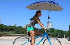 Protective Cycle Canopies - The Uberhood Bike Umbrella Keeps Cyclists Dry and Safe