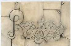 Caffeinated Calligraphic Signage
