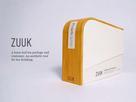 Architectural Infusion Branding - Zuuk Tea Packaging Takes Aesthetic Inspiration from Buildings