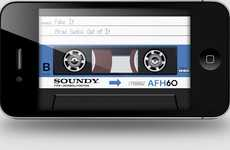 Smartphone Mixtape Jukeboxes - AirCassette Takes Mobile Users Back to the 80s and 90s