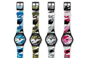 The Swatch New Gents Camo Watch Collection is Vibrantly Dazzling