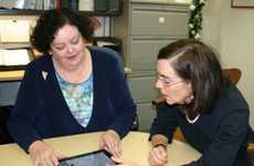 Sec Brown Presents an iPad to Help Disabled Individuals Fill Ballots