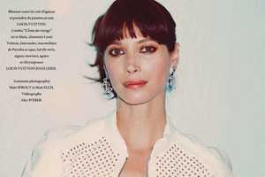 The L'Officiel Paris Christy Turlington Cover Dazzles in Louis Vuitton