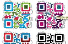 Tantalizing Technicolored Technologies - JESS3 Makes QR Codes Works of Art