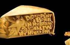 Carved Cheese Campaigns - The Greenwich Extreme Cheese Pizza Ads Boasts Devotional Statements