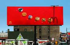 Fast Food Timekeepers - The McDonald's Sundial Billboard Lets People Know What to Eat When