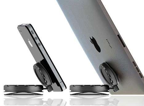 Multi-Gadget Suction Stands - MobileMount Props Up Any Device with Great Durability