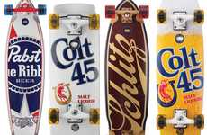 Booze-Bearing Skateboards - Hit the Streets with Pabst Brewing Company x Santa Cruz Decks
