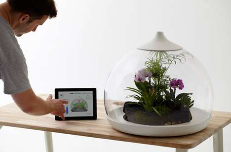 Smartphone Controlled Vivariums - Biome Flora Terrarium Merges Mobiles and Eco-Life