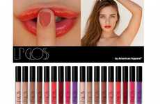 Hipster Lip Shades - American Apparel Lip Gloss Released in Stores & Online